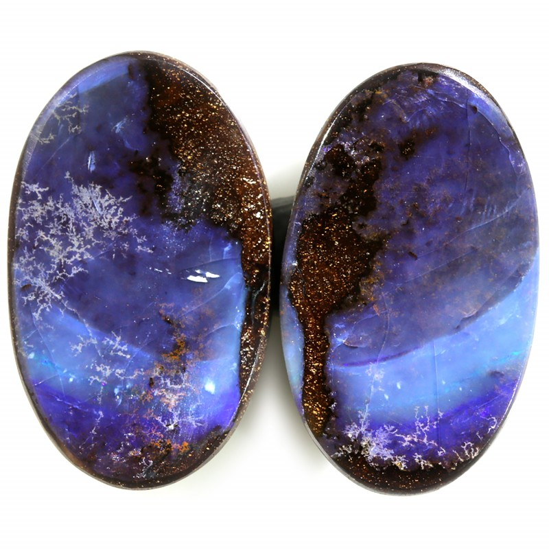 35.30 CTS WELL POLISHED BOULDER OPAL PAIRS-[SEDA1861]