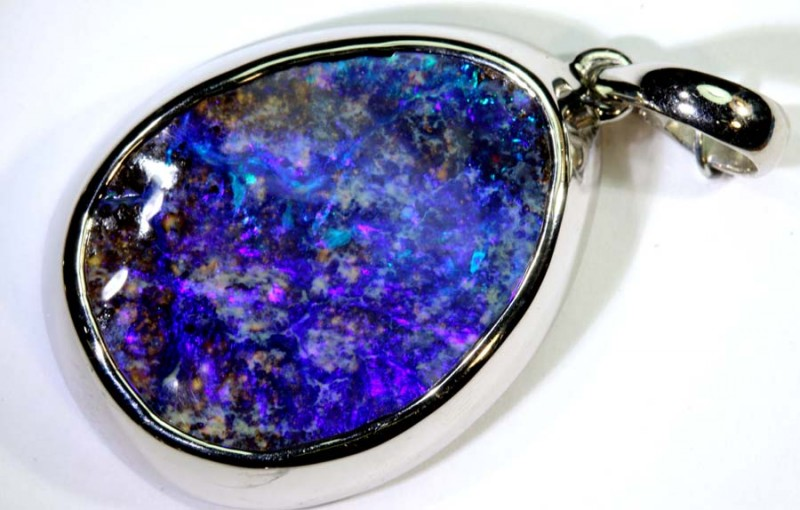 41.70-CTS BOULDER OPAL STERLING SILVER PENDANT OF-2487