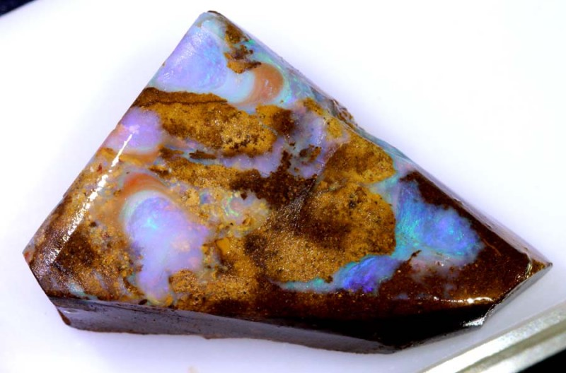 48.35CTS - BOULDER OPAL PIPE ROUGH  DT-7967