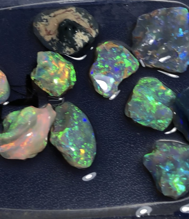 41cts Lightning Ridge Opal Rough 10 pieces