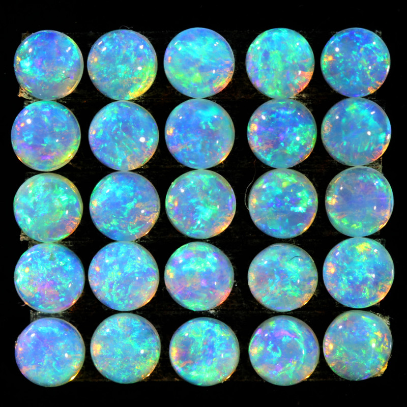 2.36CTS 25 PIECES CALIBRATED OPAL PARCEL GREAT COLOR PLAY- S1061