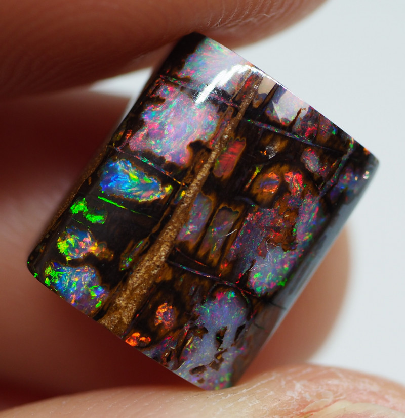 6.65 CT VIEW  WOOD REPLACEMENT BOULDER OPAL  NN135