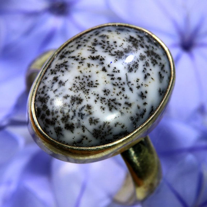 8 RING SIZE DENDRITIC OPAL FACTORY DIRECT [SOJ6519]