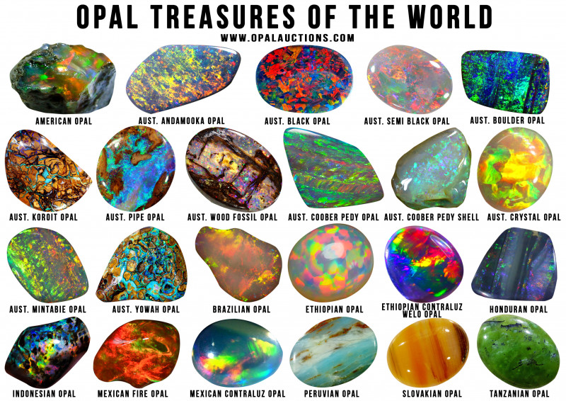 TEN OPAL TREASURES OF THE WORLD POSTERS