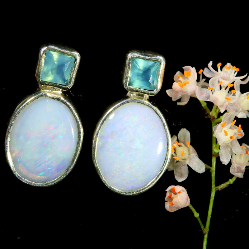 10.25 CTS SINGLE DEAL OF SOLID OPAL EARRING [SOJ6562]