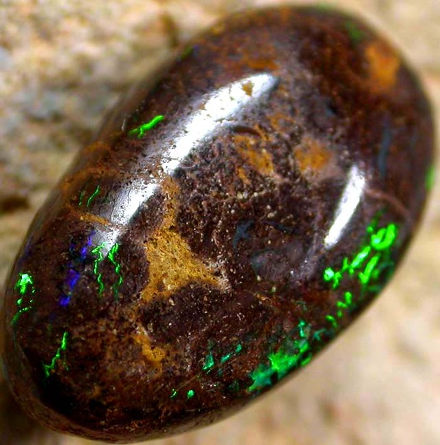 6.00 CTS AUSTRALIAN COLOR AND PATTERN KOROIT STONE  FJP903