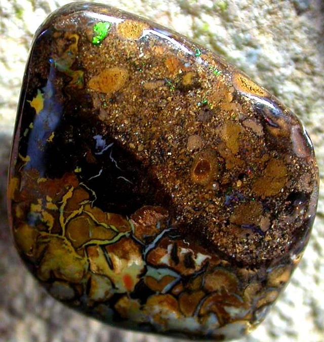 14.00 CTS AUSTRALIAN COLOR AND PATTERN KOROIT STONE  FJP907