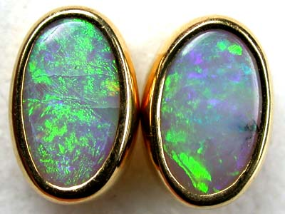 LADIES IMPRESSIVE GREEN FIRE 18K GOLD EARRING 4.4CTS SCA140