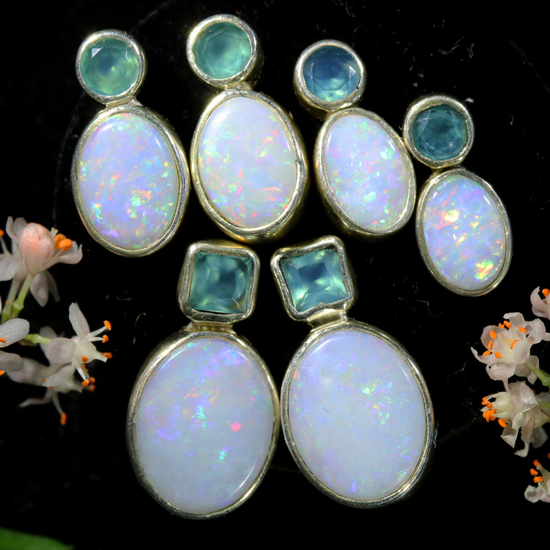 25.55 CTS PARCEL DEAL OF SOLID OPAL EARRING [SOJ6565]2