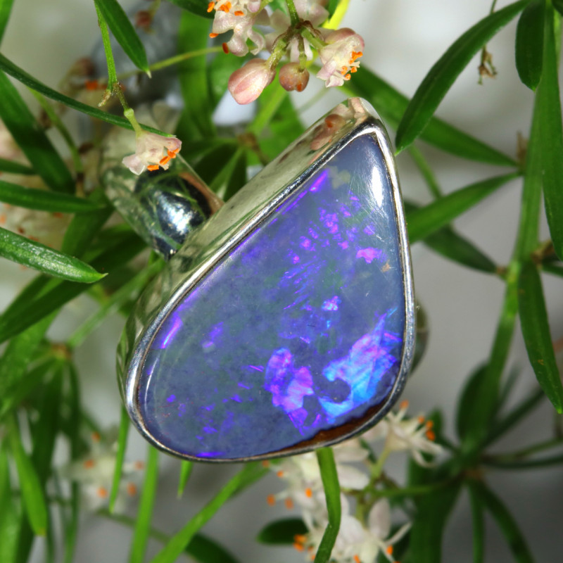 30.85 CTS SINGLE DEAL O FBOULDER OPAL  RING SIZE 9 [SOJ6570]