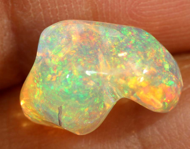 3.5-CTS MEXICAN  FIRE OPALS CARVING   FOB-1743
