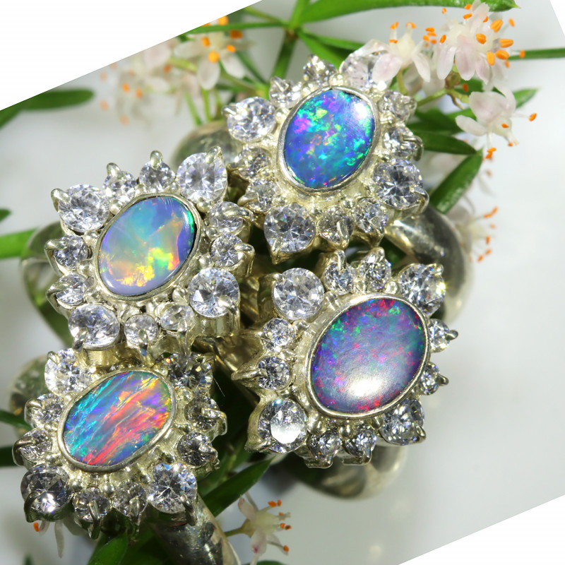 74.90 CTS PARCEL DEAL OF  DOUBLET OPAL RINGS [SOJ6574]