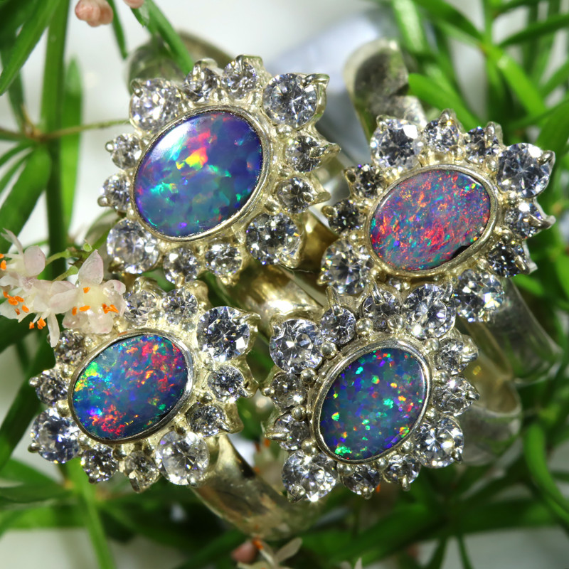 77.00 CTS PARCEL DEAL OF DOUBLET OPAL RINGS [SOJ6580]
