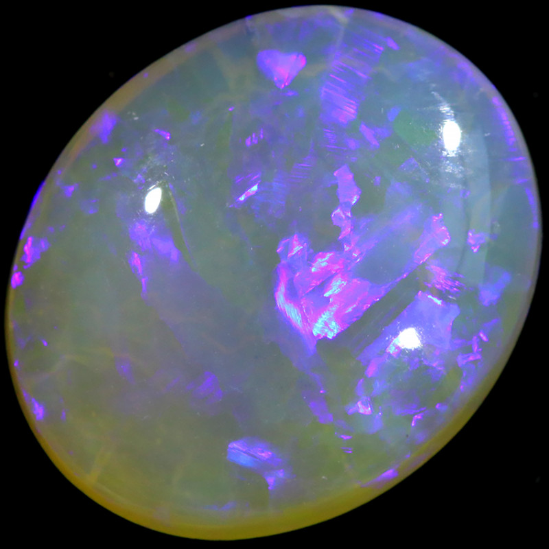 7.90 CTS CRYSTAL OPAL FROM LIGHTNING RIDGE[LRO358]