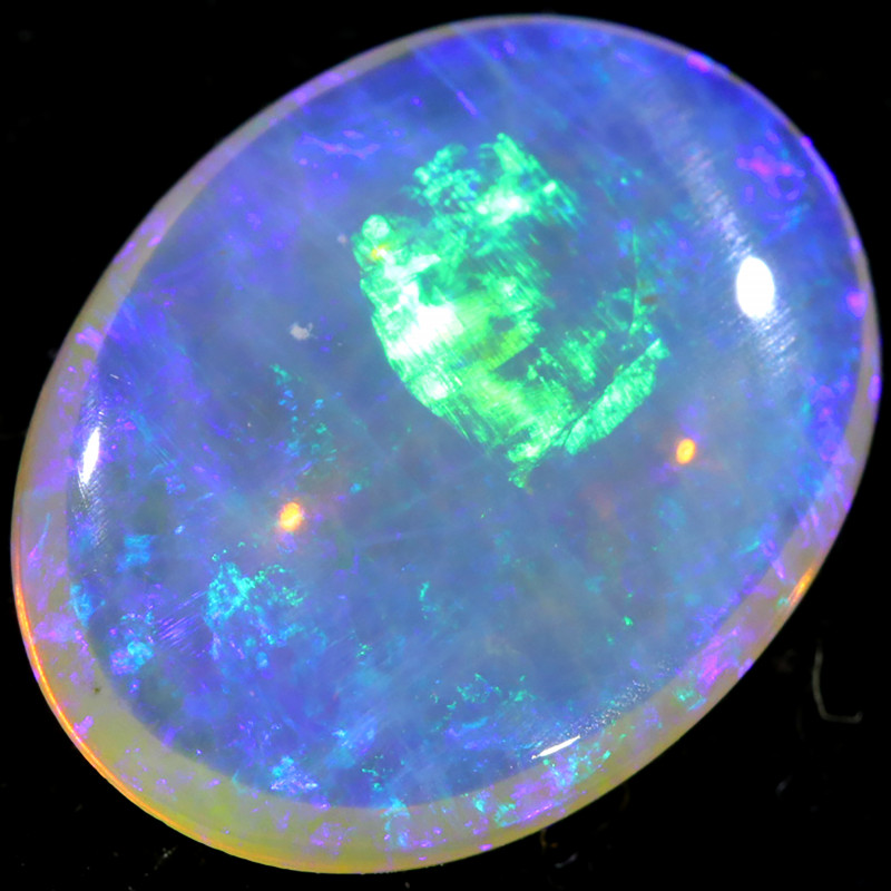 2.80 CTS CRYSTAL OPAL DOUBLE SIDES FROM LIGHTNING RIDGE[LRO361]