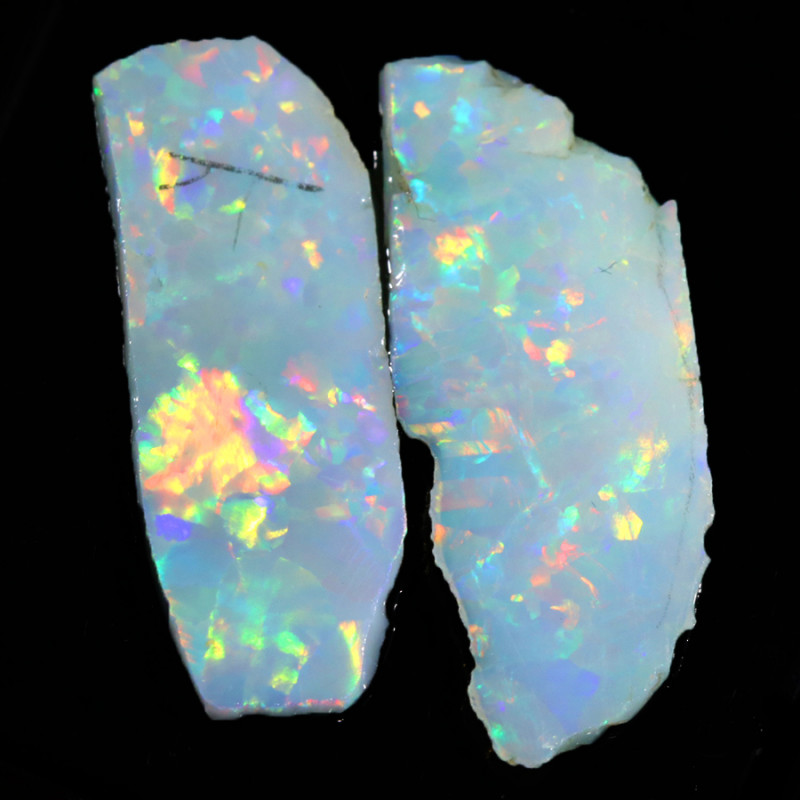 7.55Cts Sliced White fire opal slices  WS 567