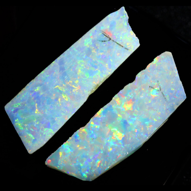 8.20Cts Sliced White fire opal slices  WS 571