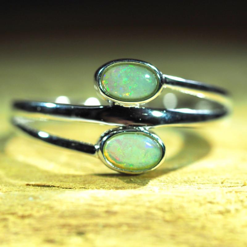 Cute Solid Crystal Opal Ring WS584