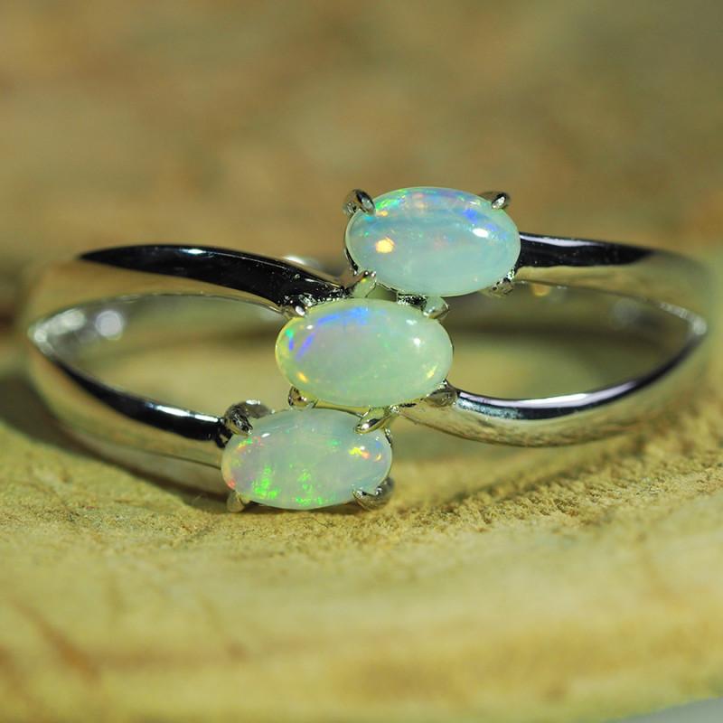 Cute Solid Crystal Opal Ring WS588