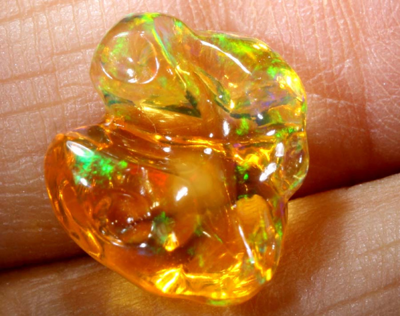 3.9-CTS MEXICAN  FIRE OPAL  FREEFORM  FOB-1790-FIREOPALBEADS