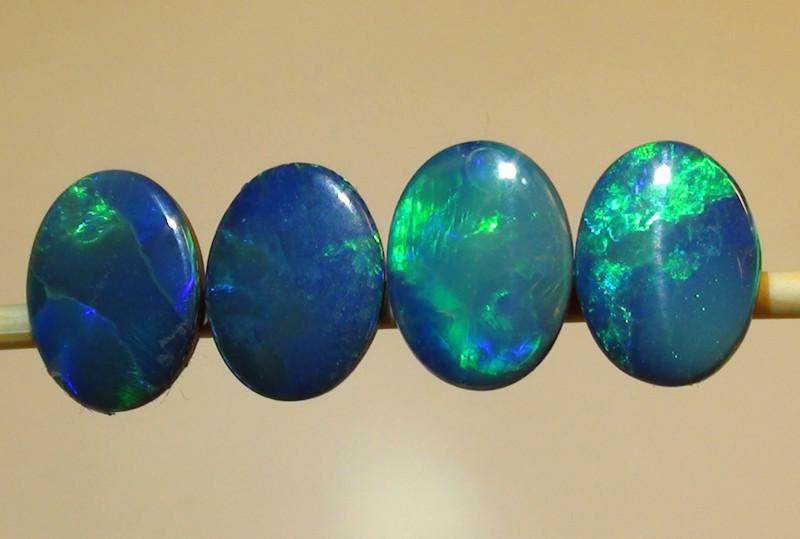 3.45 ct Doublet Opal Parcel With Gem Blue Green