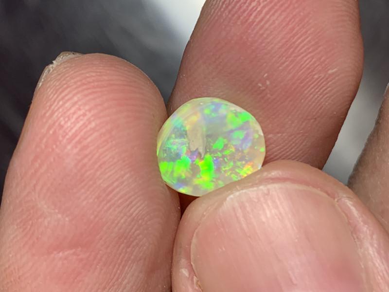 2.35 Carats of Solid/Natural Lightning Ridge Crystal Rub #054