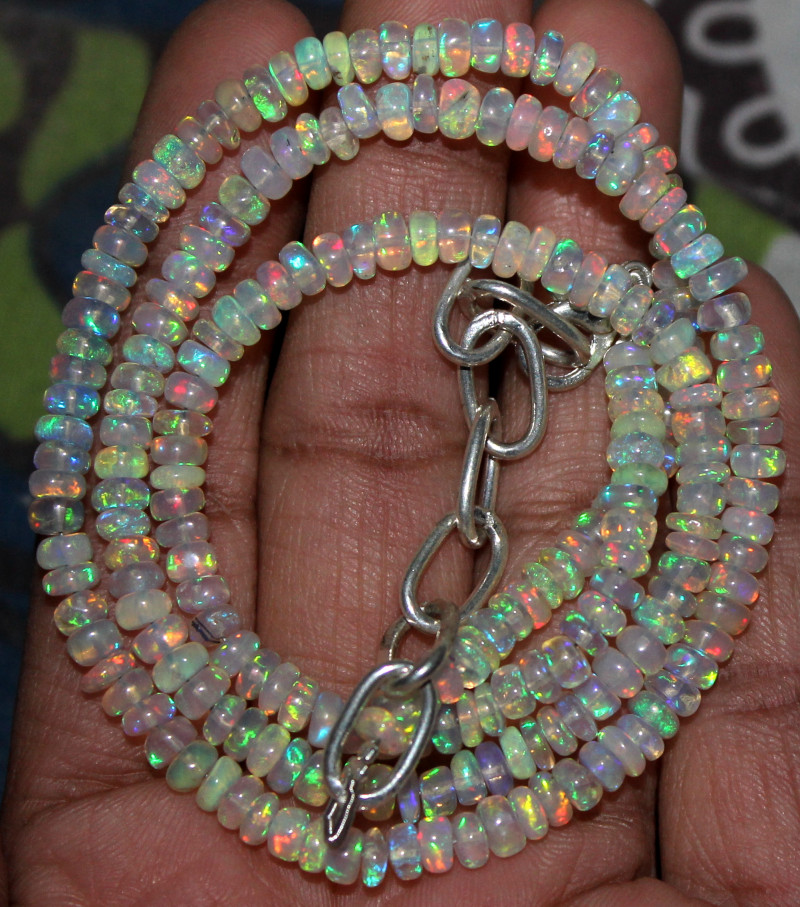 1.6 Cts Natural Ethiopian Welo Opal Cabochon Multi Color 12x6x4.5 MM Pendant Making Ring Making Jewelry Making 310ATT79