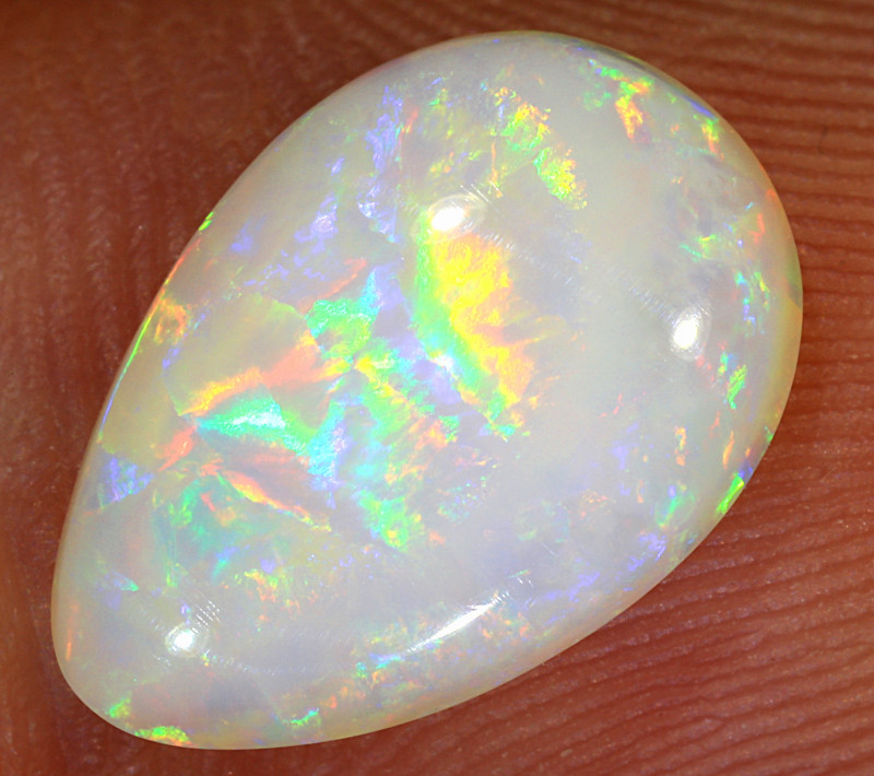 2.3ct 13x9mm Solid Coober Pedy White Opal [LO-1362]