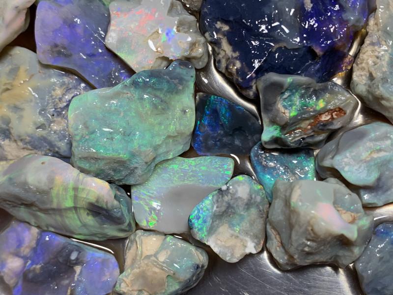 650 Carats of Solid/Natural Lightning Ridge Rough Black /Dark Opal, #063