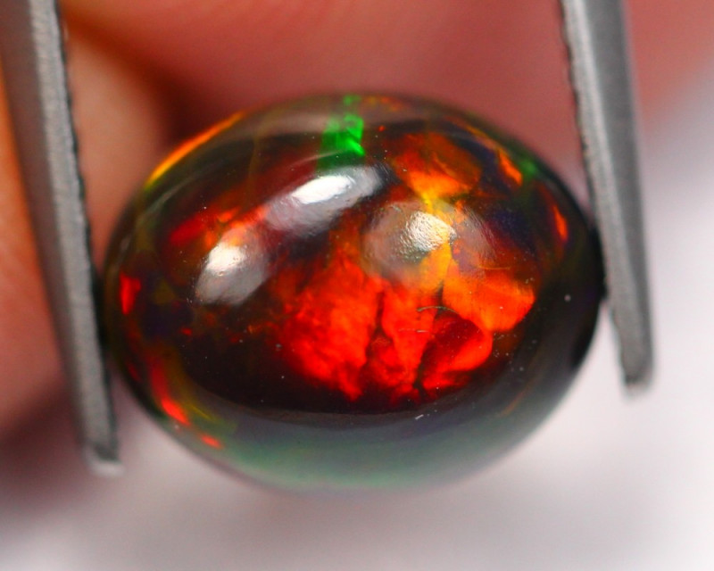 1.84Ct Saturated Pattern Ethiopian Welo Smoked Opal C1202