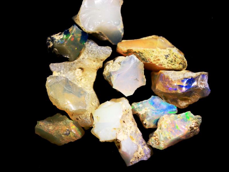 Tot. Cts. 44.0  10 Stones   SA 271    Ethiopian Rough Opal
