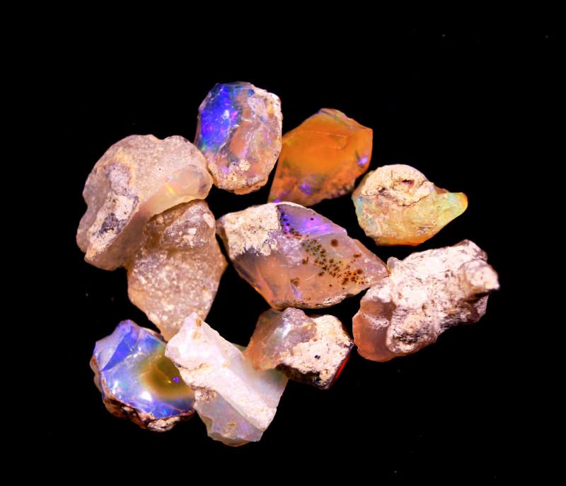 Tot. Cts. 30.20     10Stones   SA275     Ethiopian Rough Opal