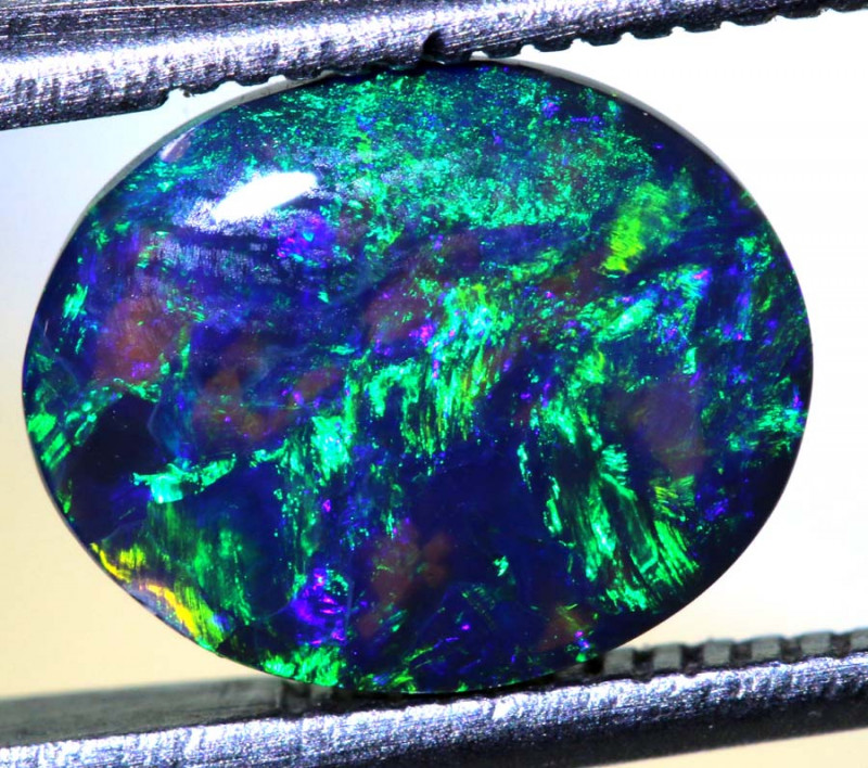 N2 -1.95 CTS QUALITY BLACK OPAL POLISHED STONE INV-1126