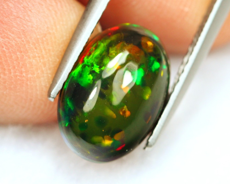 1.97Ct Patchwork Honeycomb Pattern Ethiopian Welo Smoked Opal B0961