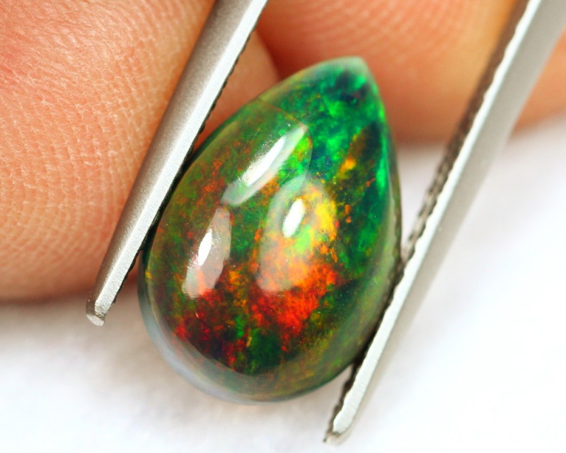 2.07Ct Multi Fire Pattern Ethiopian Welo Smoked Opal B0969