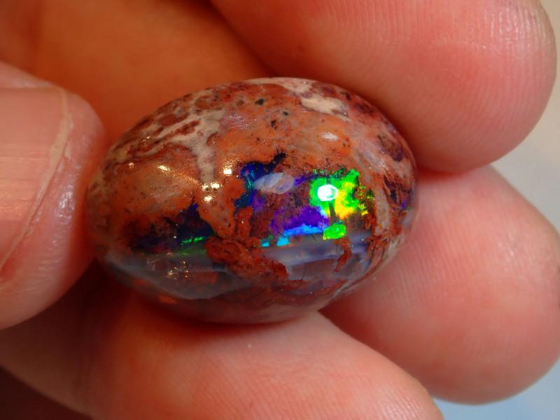 25ct  Blue  Mexican Matrix Cantera Multicoloured Fire Opal