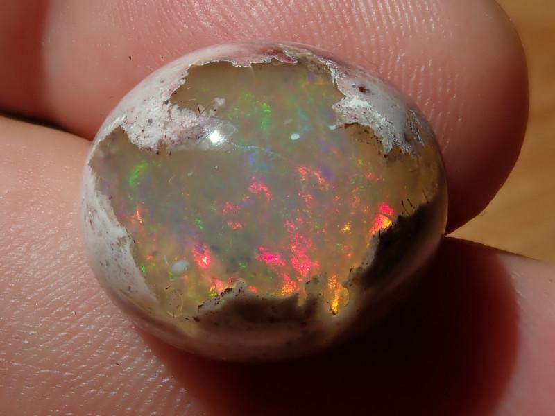 18.5ct  Mexican Matrix Cantera Multicoloured Fire Opal