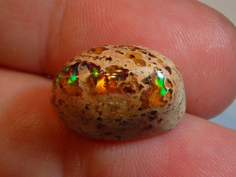 12.5ct Mexican Matrix Cantera Multicoloured Fire Opal