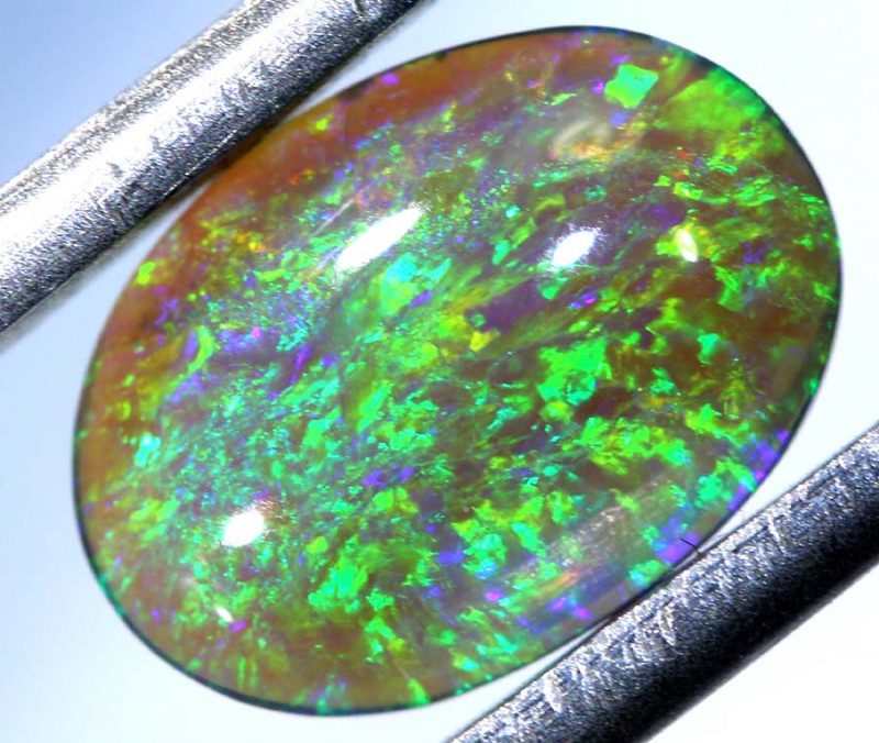 N 5- CTS  DOUBLE SIDE QUALITY  DARK OPAL POLISHED STONE INV-1141
