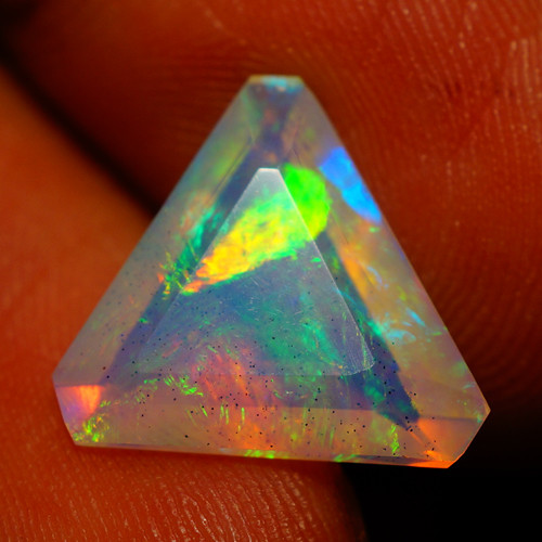 2.86 CT CUSTOM CUT!! Quality Faceted Cut Ethiopian Opal-BAA79