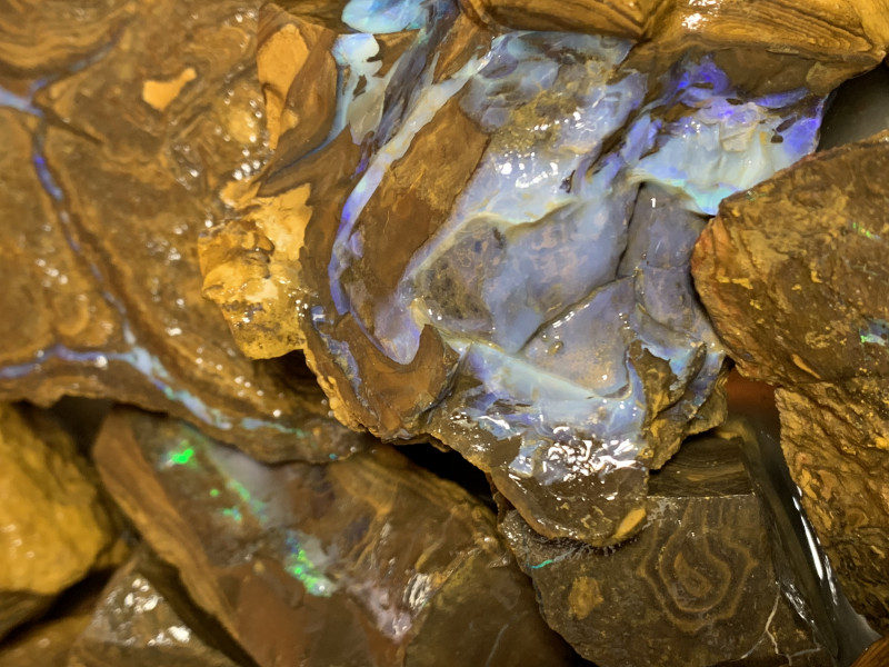 32000 Carats of Rough Boulder Opal, Queensland Boulder; #114
