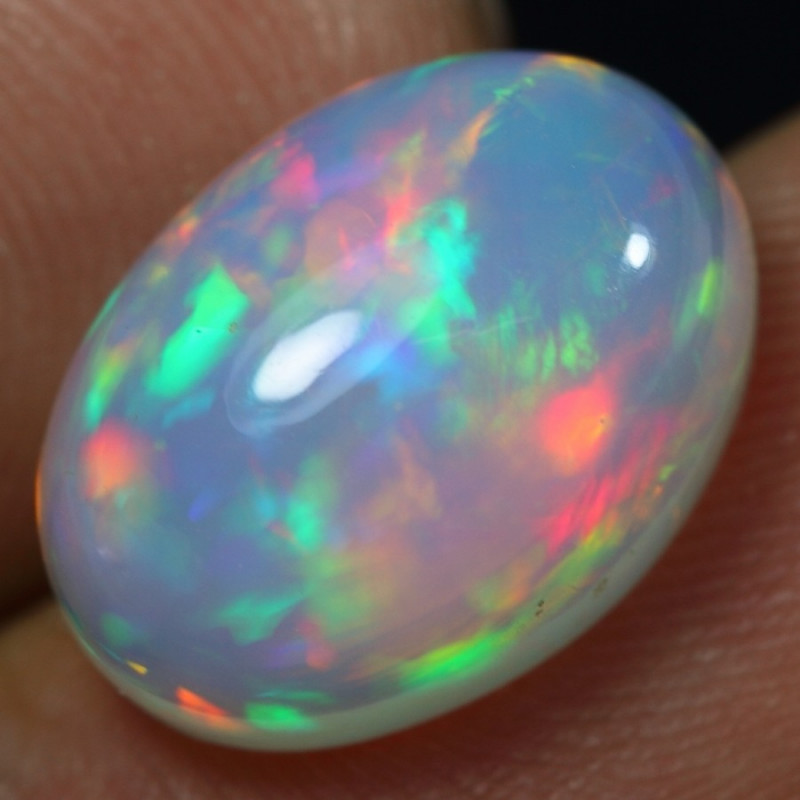 6.60cts Astonished Rainbow Fire Ethiopian Opal