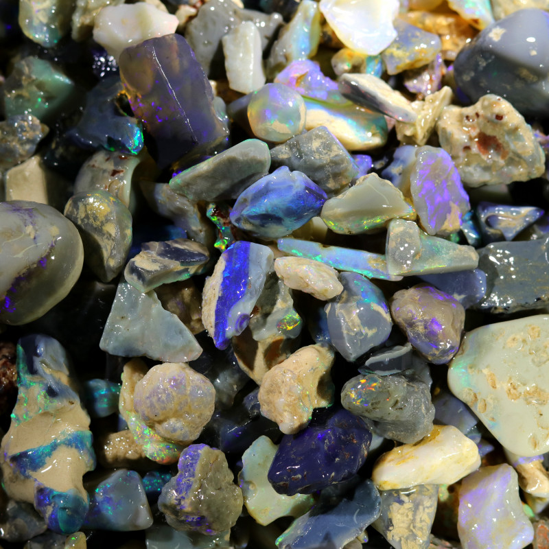 3130.00 CTS COLOURFUL OPAL ROUGH MINE RUN FROM LIGHTNING RIDGE[BR-SAFE122]