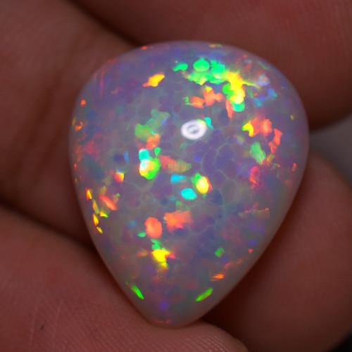 11.69 CT  5/5 BRIGHTNESS WHITE BASE TOP  Quality Welo Ethiopian Opal