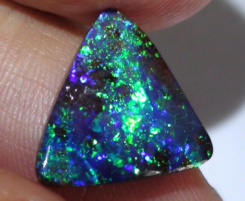 6.0 ct Top Quality Gem Dark Base Blue Green Color Queensland Boulder Opal