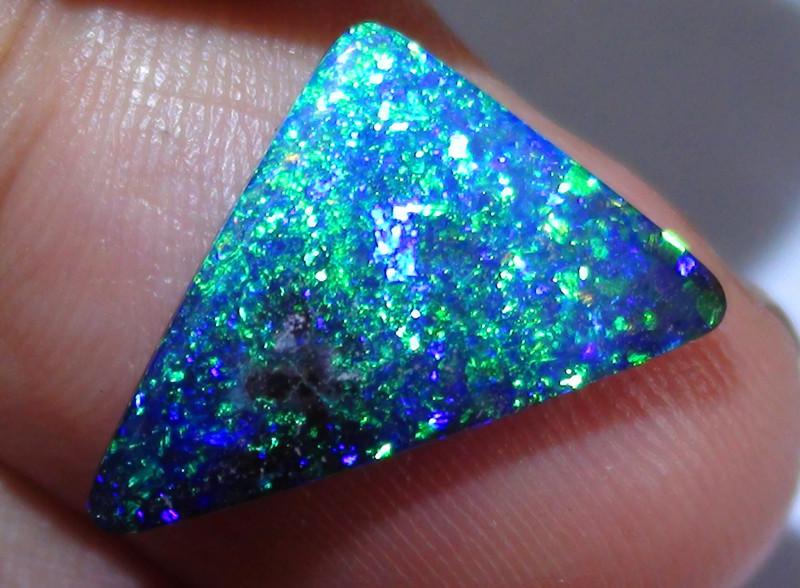 4.80 ct Top Quality Gem Dark Base Blue Green Queensland Boulder Opal *