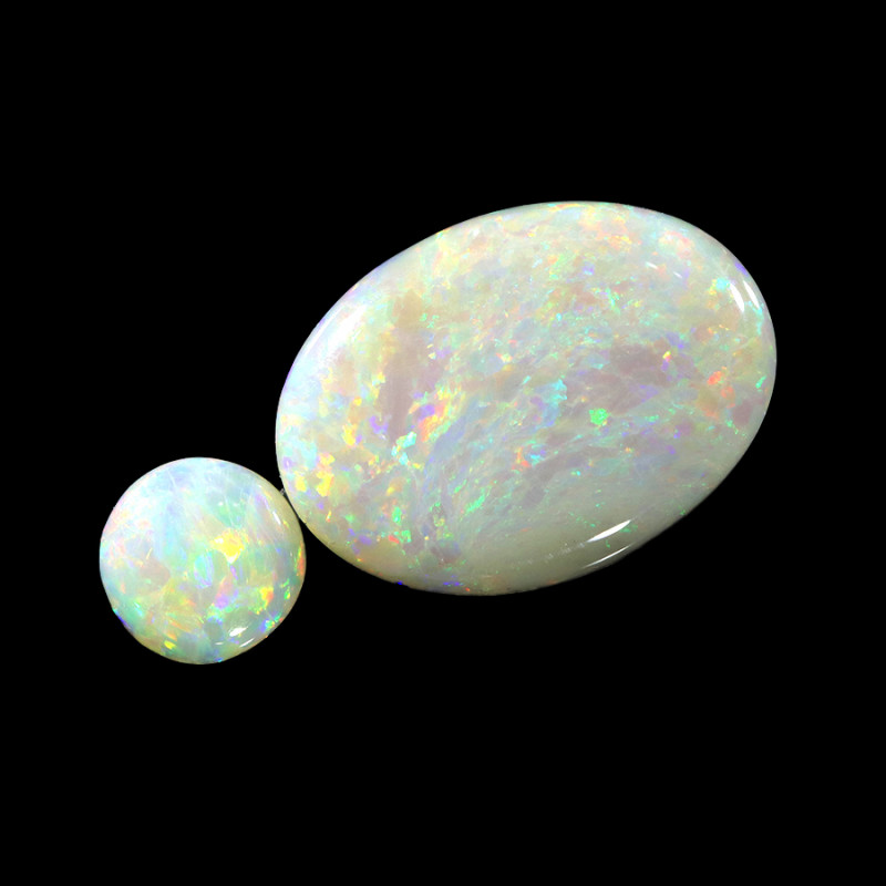4.09Cts 2pcs Crystal Fire opals Calibrated WS756