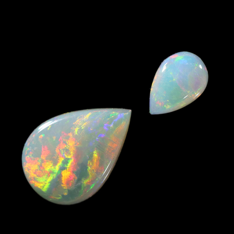 1.15Cts 2pcs Crystal Fire opals Calibrated WS757