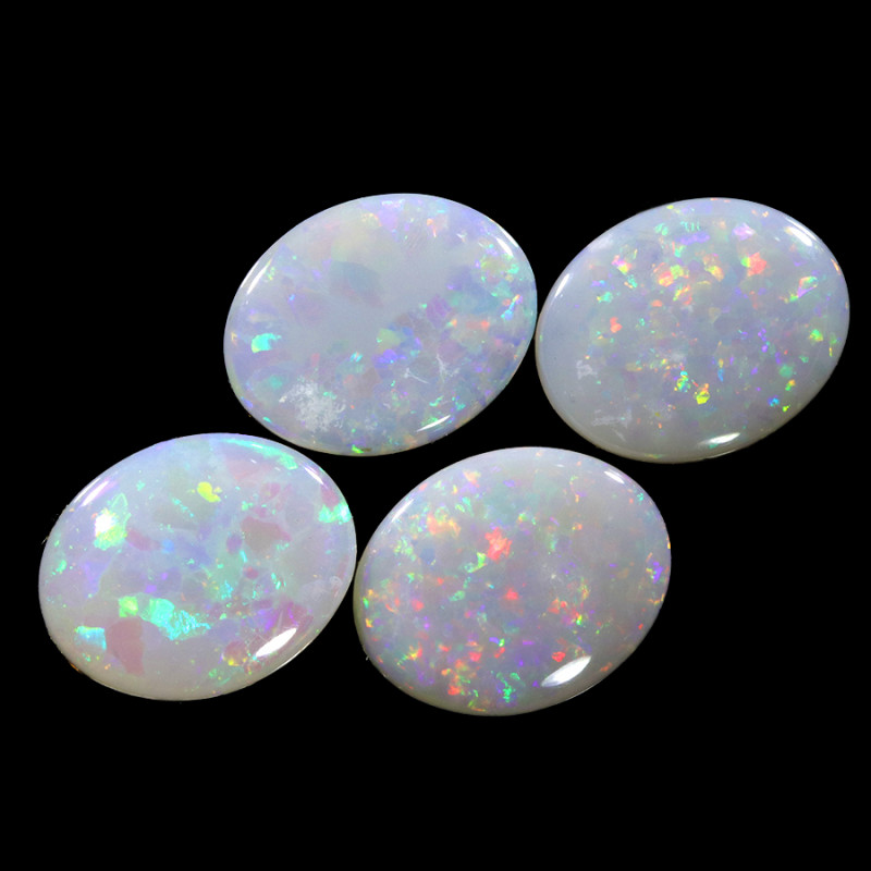 3.98Cts 4pcs Crystal Fire opals Calibrated WS761