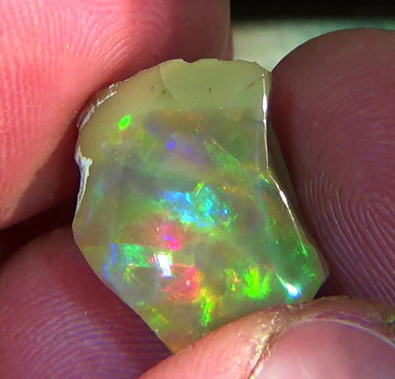 14.15 cts Ethiopian Welo CHAFF CIRRUS dark opal N4 3/5